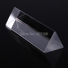 Free Shipping 5cm Optical Glass Triple Triangular Prism Refractor Physics Experiment  #gib