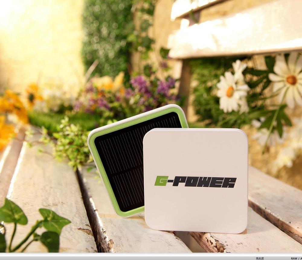 G-power STX-II 5000mah emergency solar backup battery charger portable power bank polymer batery(1 main board + 1 solar board)(China (Mainland))