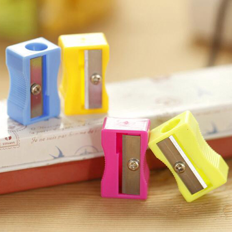 50pcs/lot Pencil Sharpener Stationary Office School Supplies Single Holes Pencil Cutter For Students Writing Painting<br><br>Aliexpress