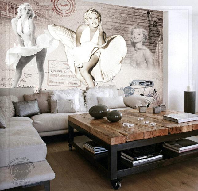 marilyn monroe room wallpaper - photo #28