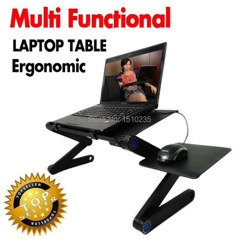Multi Functional Ergonomic mobile laptop table stand for bed Portable sofa laptop table foldable notebook Desk with mouse pad(China (Mainland))