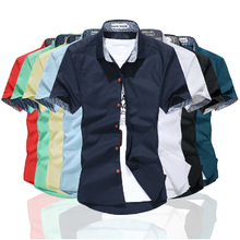 New 2013 Plaid Shirt Men's Clothing Male Short-Sleeve Casual shirts slim Free Shipping