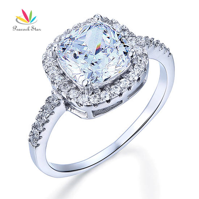 Wholesale 3 Carat Cushion Cut Created Diamond Solid 925 Sterling Silver Brida