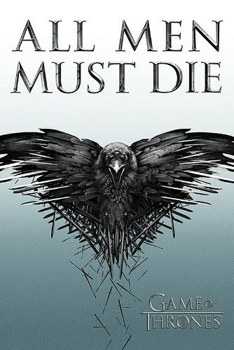 Game of Thrones Poster All Men Must Die Best Sale Classical Home Decor Mondern Poster Size (50x75cm) Wall Sticker Free Shipping(China (Mainland))