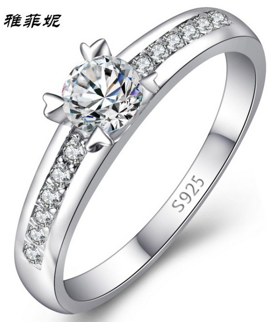 Fashion 925 Sterling Silver wedding engagement ring size 5 6 7 8 9 10 183 in