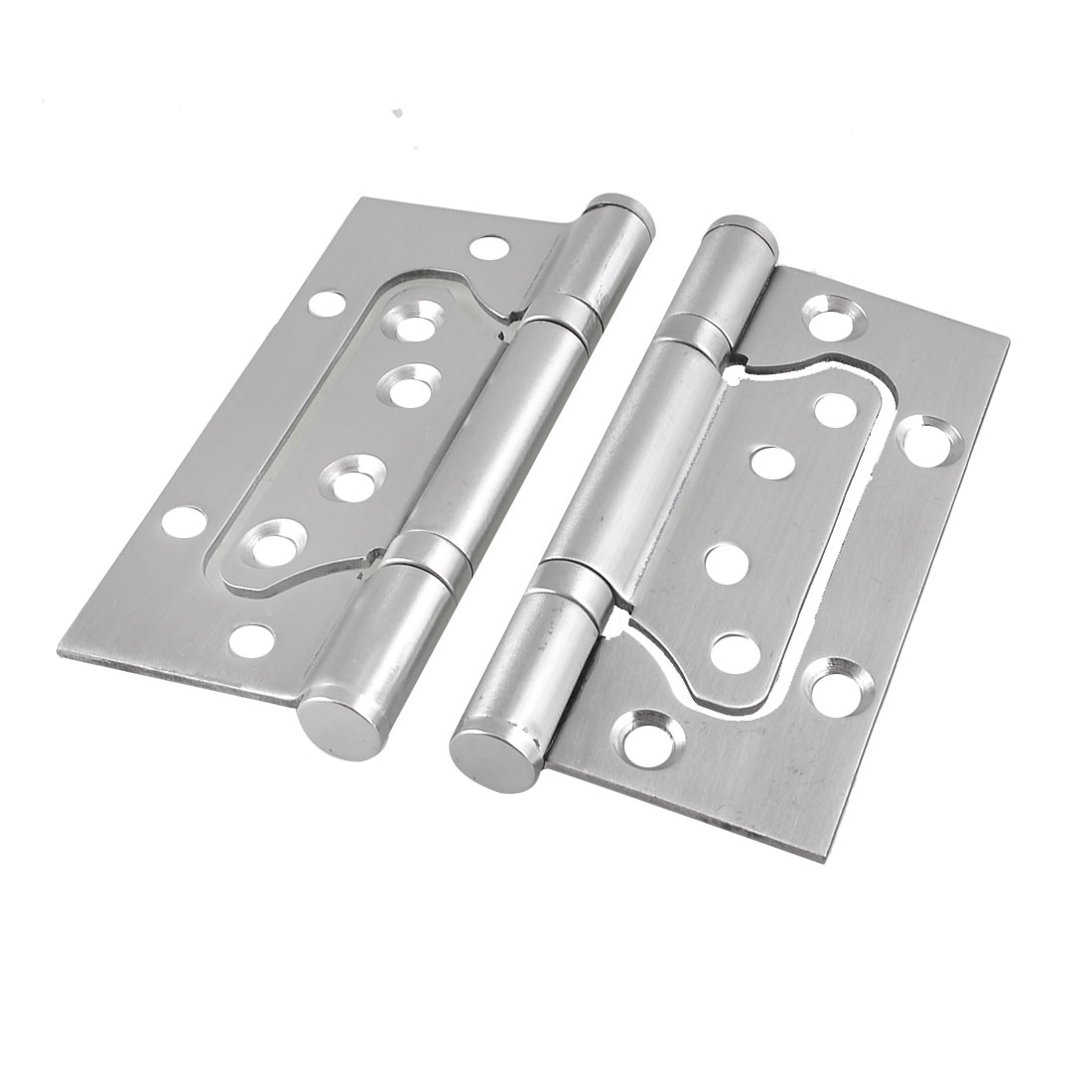"2 Pcs/lot Silver Tone Omnidirectional Rotatable Closet Door Hinge 4.1"" Long(China (Mainland))"