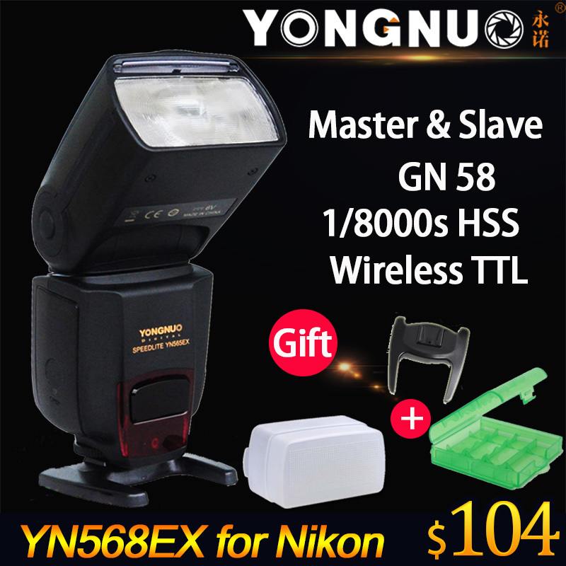 Yongnuo YN568EX YN-568EX TTL High Speed Flash Speedlite for Nikon D750 D7000 D4 D800 D610 D600 D800E D7100 D7200 D5200 D5300 DF(China (Mainland))