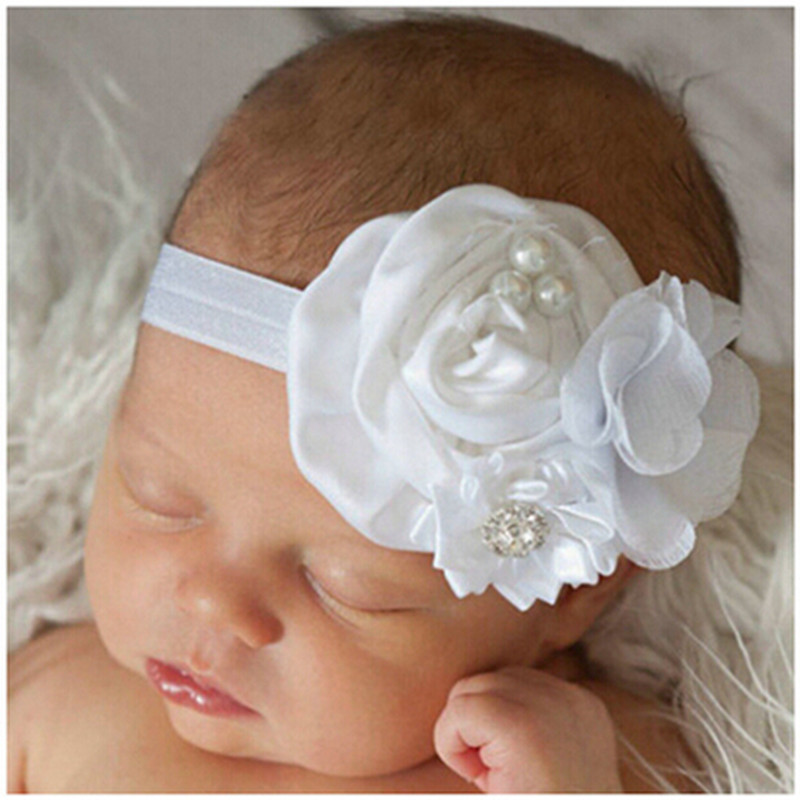 One piece retail & wholesale Infant Toddler Baby Headbands Satin Ruffled Flower Headbands Baby Girls Hair Accessories(China (Mainland))