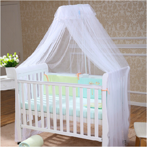 Good Quality Baby Crib Mosquito Net Baby Infant Crib Canopy Baby Kids Bed Net White Tent Cortina Para Cama Dossel Free Shipping(China (Mainland))