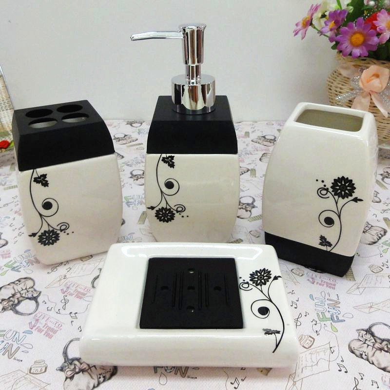 Ceramic bathroom accessories set elegant bathroom sets for Ceramic bathroom accessories sets
