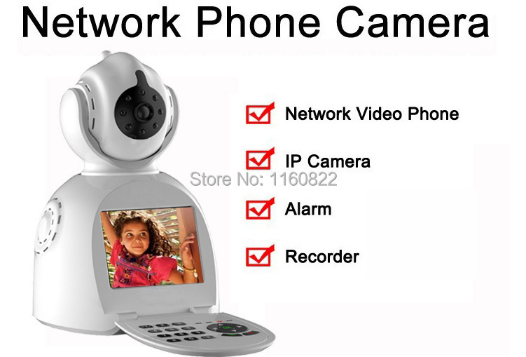New Arrival 4 in 1 Internet Ip camera,Video Call,Recorder,Network Phone Camera Skype Camera Home Security Alarm e-robot IP-SP003(China (Mainland))