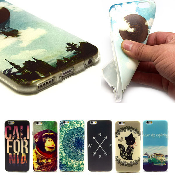 "2015 Real Sale Variety Colors Tpu Painting Phone Cases Attractive Cute Pattern Mobile Back Cover Case For Iphone 6 6g 4.7"" Inch(China (Mainland))"