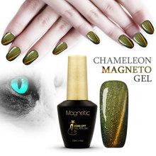 12 Colors Magnetic Cat Eye Gel Nail Gel Polish Long-lasting magnetic UV Fingernail Gel Soak-off LED UV Color Gel Varnish lacquer(China (Mainland))