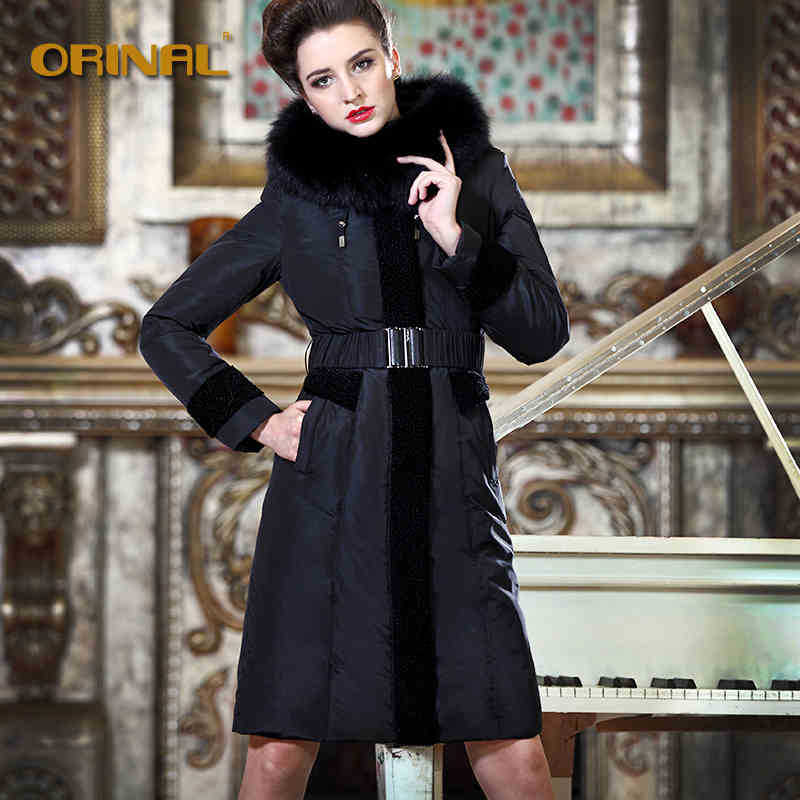 2014 Hot New Thicken Warm Woman Down jacket Coats outerwear Parkas Luxury Brand Fox Fur collar Long Slim Plus Size 5XXXXXL BlackОдежда и ак�е��уары<br><br><br>Aliexpress