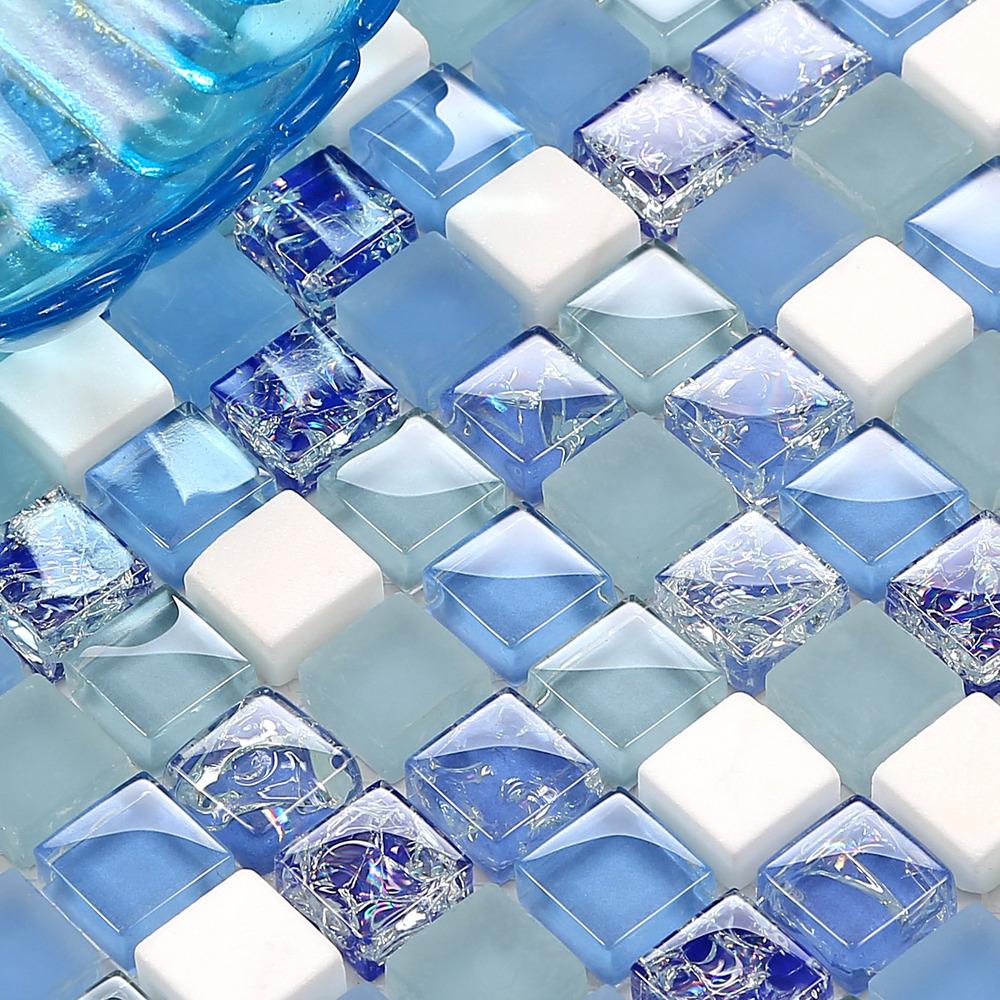 Binglie crystal glass mosaic stone mosaic TV backdrop backdrop stone tile Mediterranean(China (Mainland))