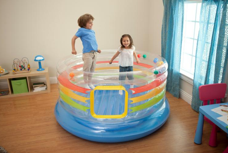 Color transparent up baby playground trampoline outdoor fun & sports 182*86cm(China (Mainland))