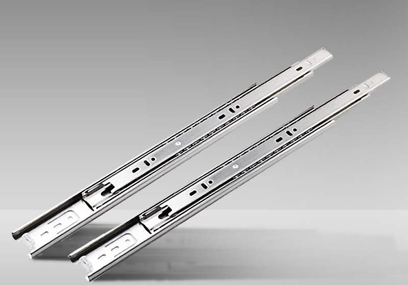 Stainless steel hardware mute drawer track three slide rails<br><br>Aliexpress