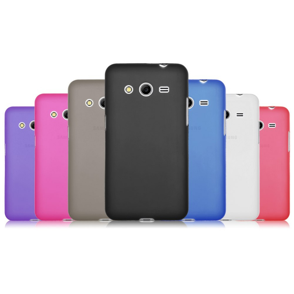 Best Matte Frosted Soft TPU GEL Back Case Cover Skin For Samsung Galaxy Core 2 Dual SIM SM-G355H 1-east(China (Mainland))