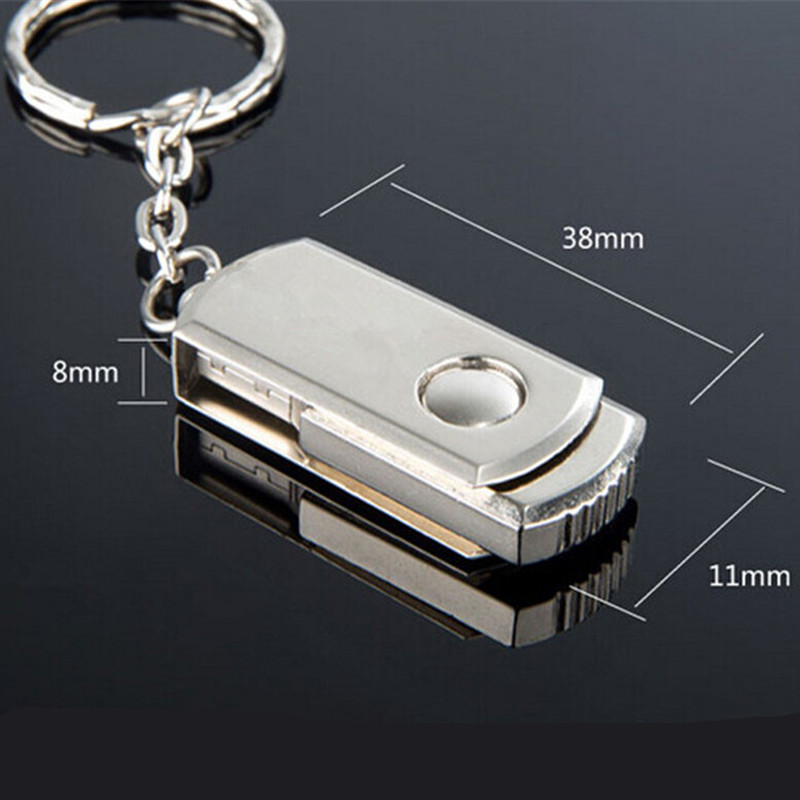 New Promotion price metal Stainless steel Swivel key chain shape usb flash drive pen drive (20 pcs logo for free )(China (Mainland))