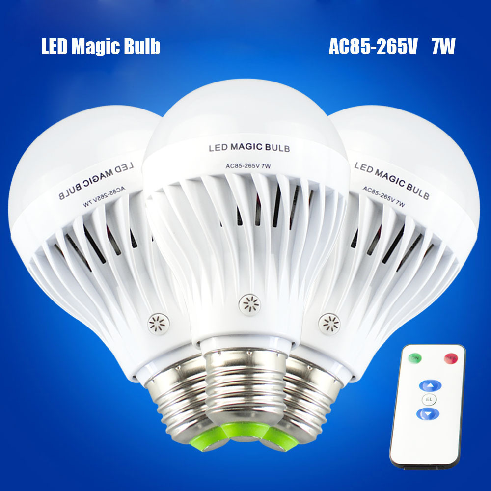 Emergency Lamp 7W E27 with Remote controller Dimmable led bulb 85-265V Rechargeable LED Magic bulbs Free Shipping<br><br>Aliexpress