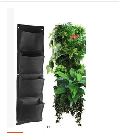 4 layers pocket vertical green wall planters potato bag for Vertical garden planters diy