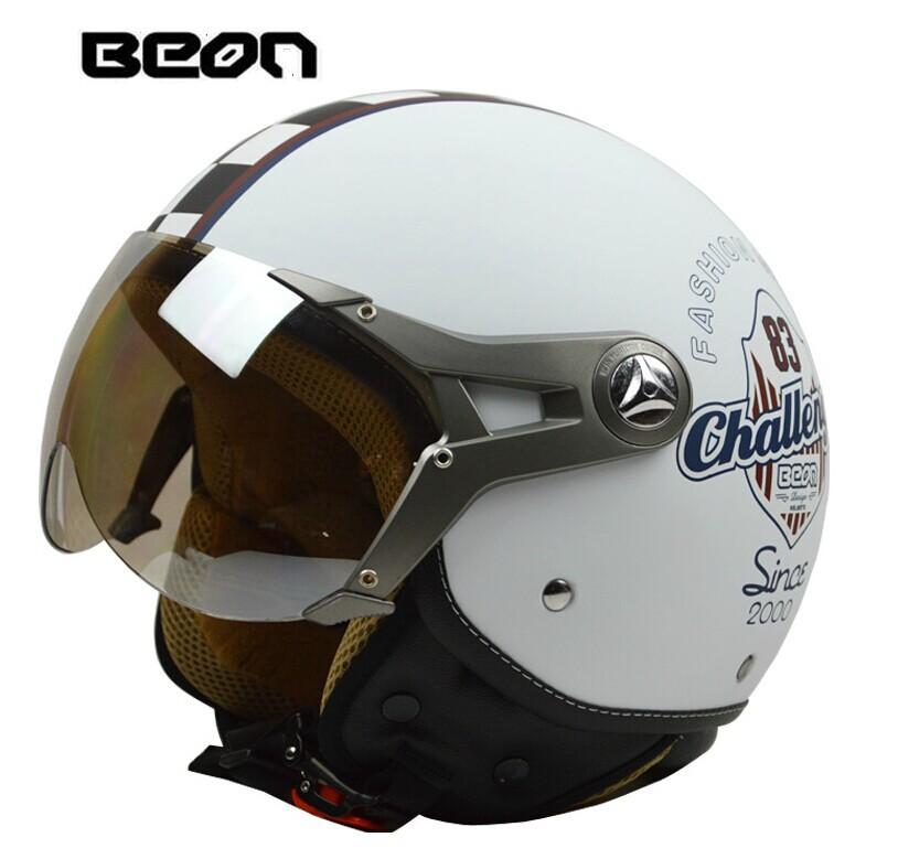 Фотография New brand Beon motorcycle open face helmet,Vintage E-bike helmet,ECE Approved sctoor 3/4 helmet
