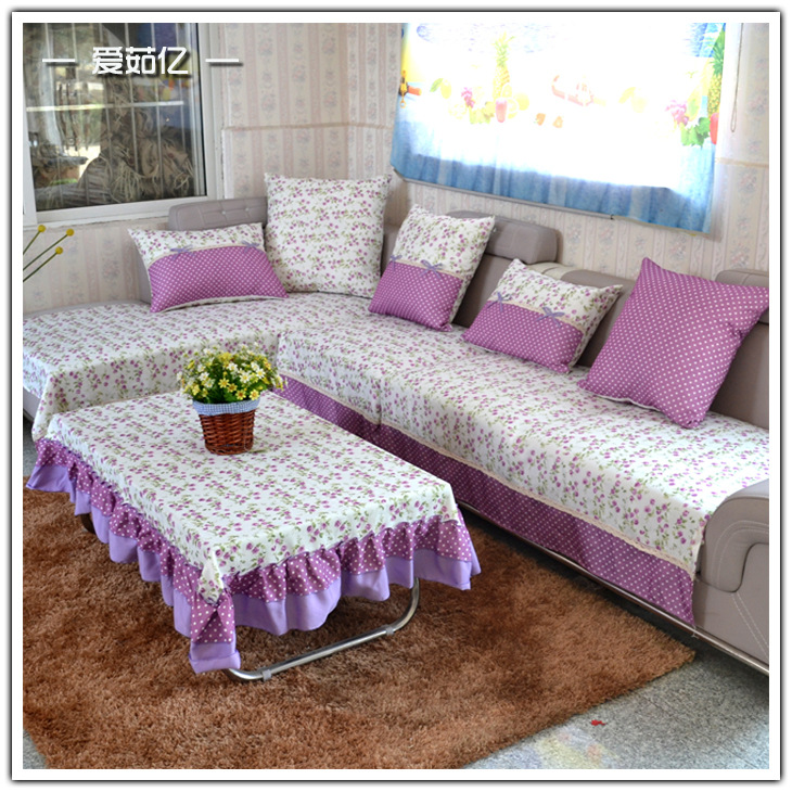 Cotton printed combination kit sofa cover funda sofa slip for Canape sofa cover
