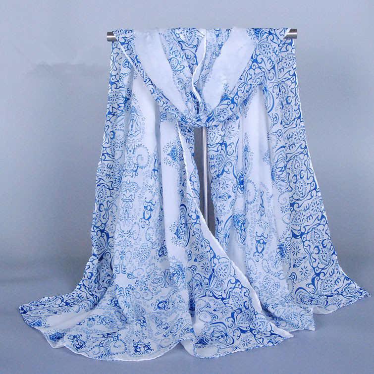 2016 Limited Sale Bufandas Nice Chiffon Scarf Women High Quality Gradual Colors Georgette Silk Scarves Shawl Female Long Design(China (Mainland))
