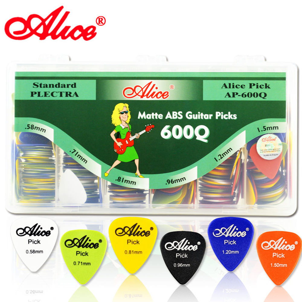 New Arrival 600pcs Mix Thicknesses Standard Size Guitar Picks AP-600Q Matt ABS Plectrum With Plastic Box(China (Mainland))