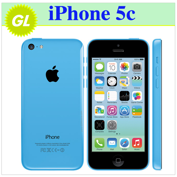 iPhone5c Original Unlocked Apple iPhone 5C IOS 8 GPS WIFI Dure Core 4.0 Screen 16GB/32GB storage mobile Phone(China (Mainland))