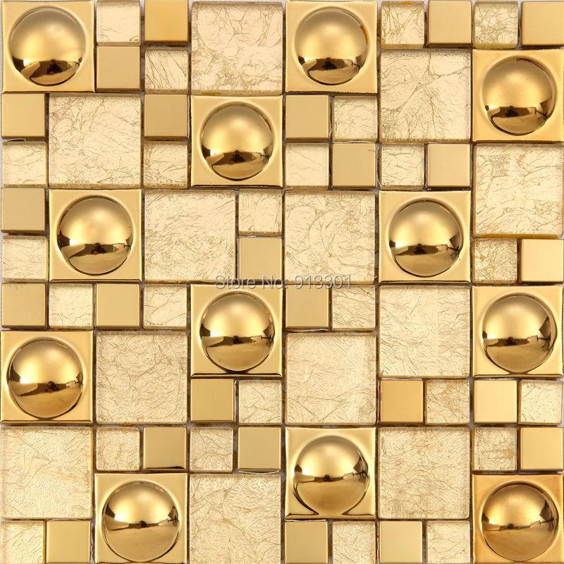 Gold Porcelain Tiles Bathroom Wall Backsplash Glazed: Glazed Porcelain Tile Kitchen Backsplash Cheap Glass