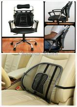 Mesh Back Lumbar Support Massage Cushion With Massage Beads For Car Seat Chair Dropshipping Free shipping(China (Mainland))