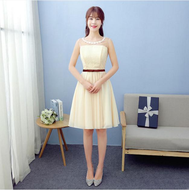 couleur champagne demoiselle d 39 honneur robe promotion achetez des couleur champagne demoiselle d. Black Bedroom Furniture Sets. Home Design Ideas