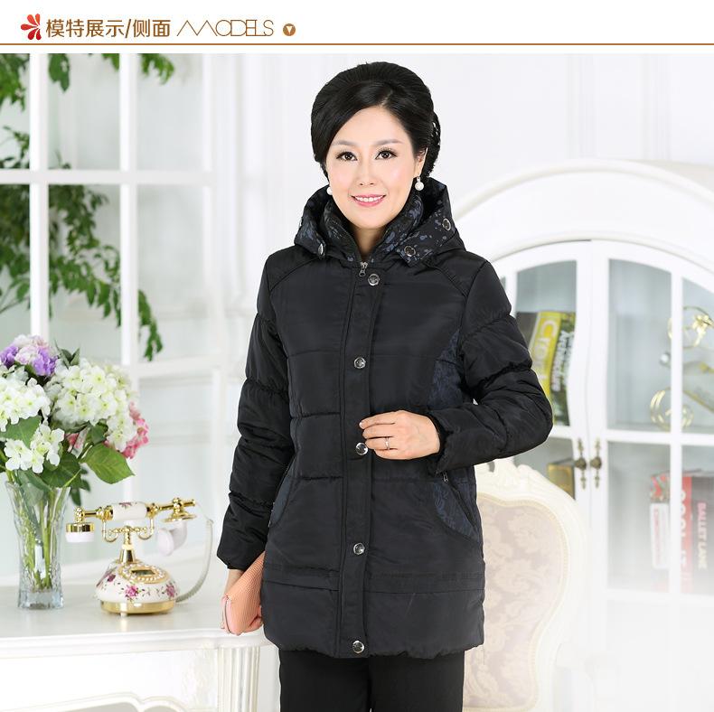 Скидки на 2016 длинные женские Хлопка Пальто новые прибытия капюшоном полный рукавом свободные плюс размер Куртка Женщин Парки плюс размер 4XL Мама одежда 6026