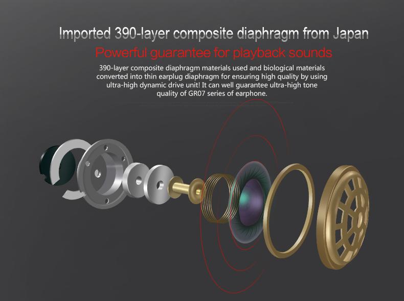 VSONIC GR07X In-ear Earphones 2.5mm / 3.5mm High Fidelity Audiophile Balanced headset