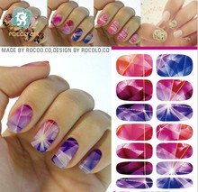 wholesale Water Transfer Foil Nails Sticker red Flower Design Nails Stickers Manicure Styling Tools Water Film Paper Decals(China (Mainland))