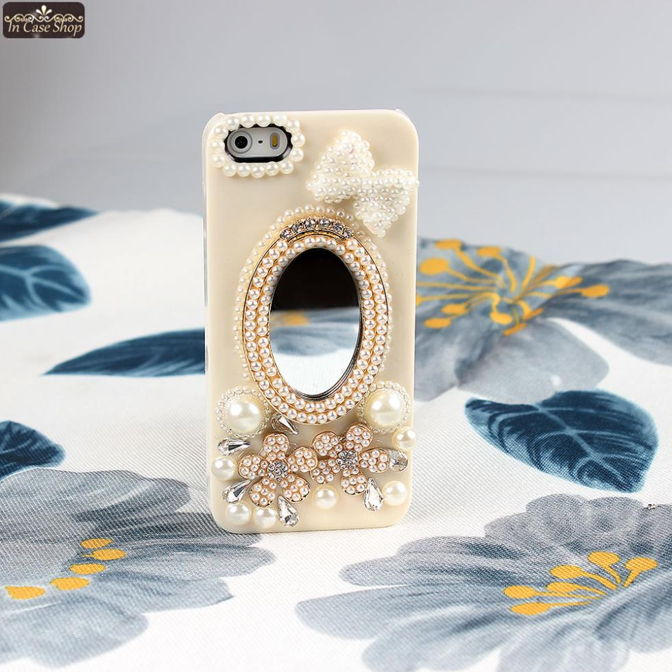 Princess mirror cell phone cover case for apple iphone 4 for Coque iphone 4 miroir