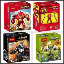 3Pcs/lot Decool 0181-0183 Green Goblin/Venom/Iron man action figure Minifigure building block set toys as kid's Christmas