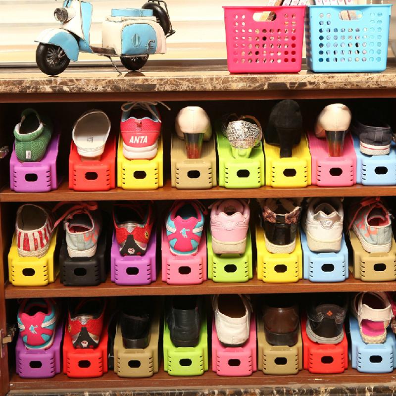 Здесь можно купить  Multifunction creative activities suit bilayer shoe plastic storage rack finishing minimalist shoe shoe combination  Бытовая техника