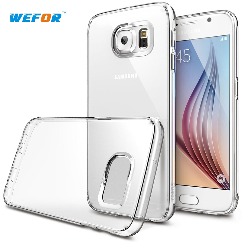 S7 Edge WeFor Case For Samsung Galaxy S7 Edge Case Clear Rubber Shockproof Protective Case Anti-Scratch(China (Mainland))