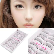 10Pairs  Women Soft Natural Long  False Eyelashes Eye Lashes Extension Beauty Handmade Party Daily(China (Mainland))