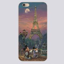 Mickey Minnie cartoon Design black skin case cover cell mobile phone cases for iphone 4 4s 5 5c 5s 6 6s 6plus hard shell