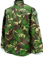 British DPM Camo Woodland BDU Uniform Shirt Pants free ship