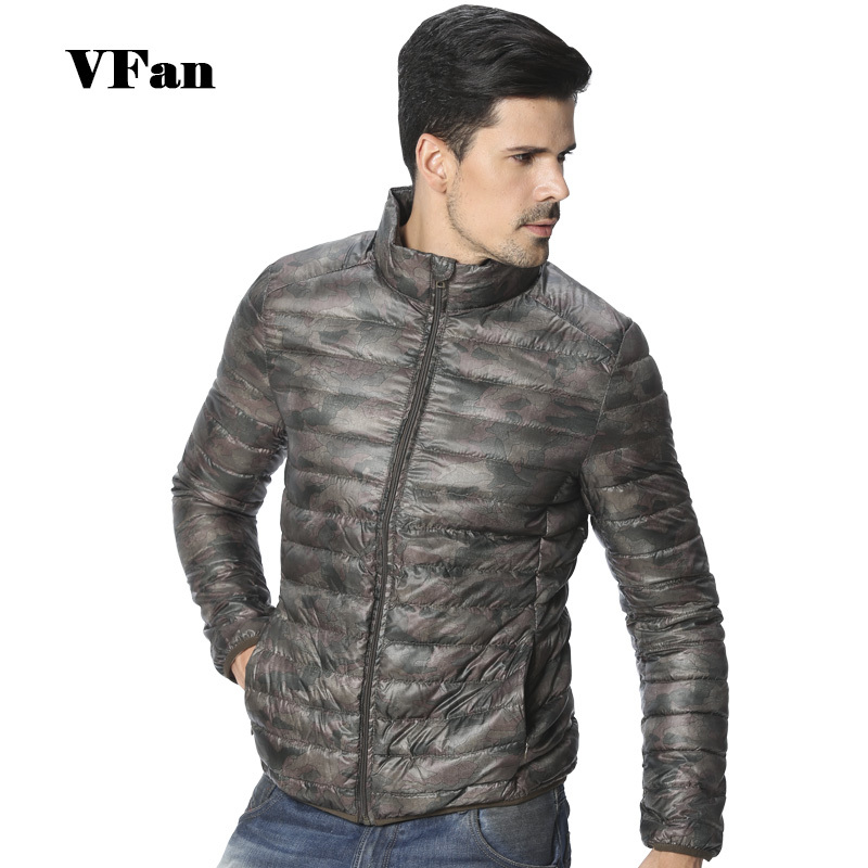 2015 новый бренд мужской сверхлегкий камуфляж 90% утка пуховик уменьшают подходящую Packable свободного покроя фугу куртка Z1568-Euro