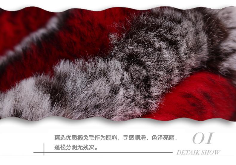 Lady Fur Collar Female Head Warm Winter Fur Scarf Caps Dual Thickening Korean Students In The Whole Fur Collar B-4196