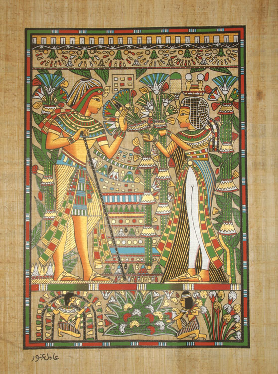 Papiers papyrus promotion achetez des papiers papyrus for Decoration egyptienne murale