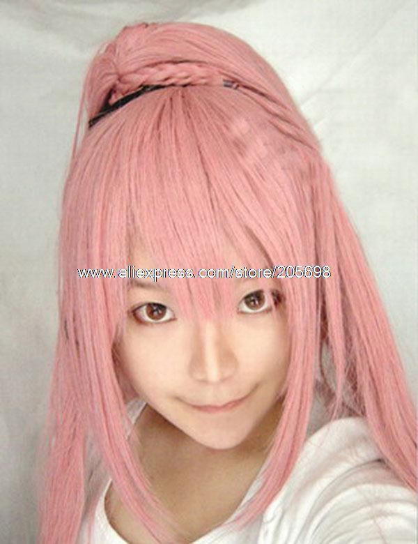 Гаджет  Vocaloid Ruka Smoke Pink Long Hair cosplay wig anime halloween christmas Free Shipping None Изготовление под заказ