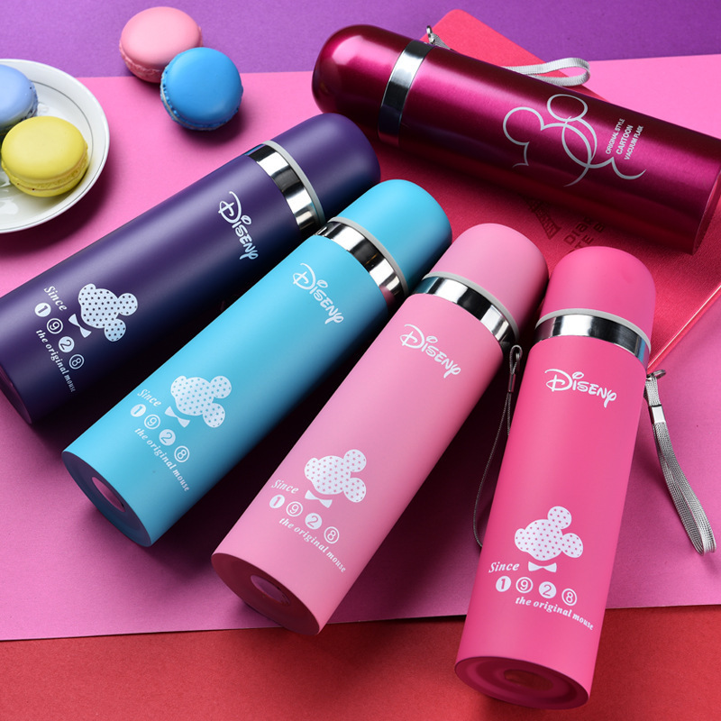 Stainless Steel Vacuum Flask Water Bottle Cute Travel Mugs Termos Bardak Garrafa Termica Thermoses Insulated Cup Flask for Kids(China (Mainland))