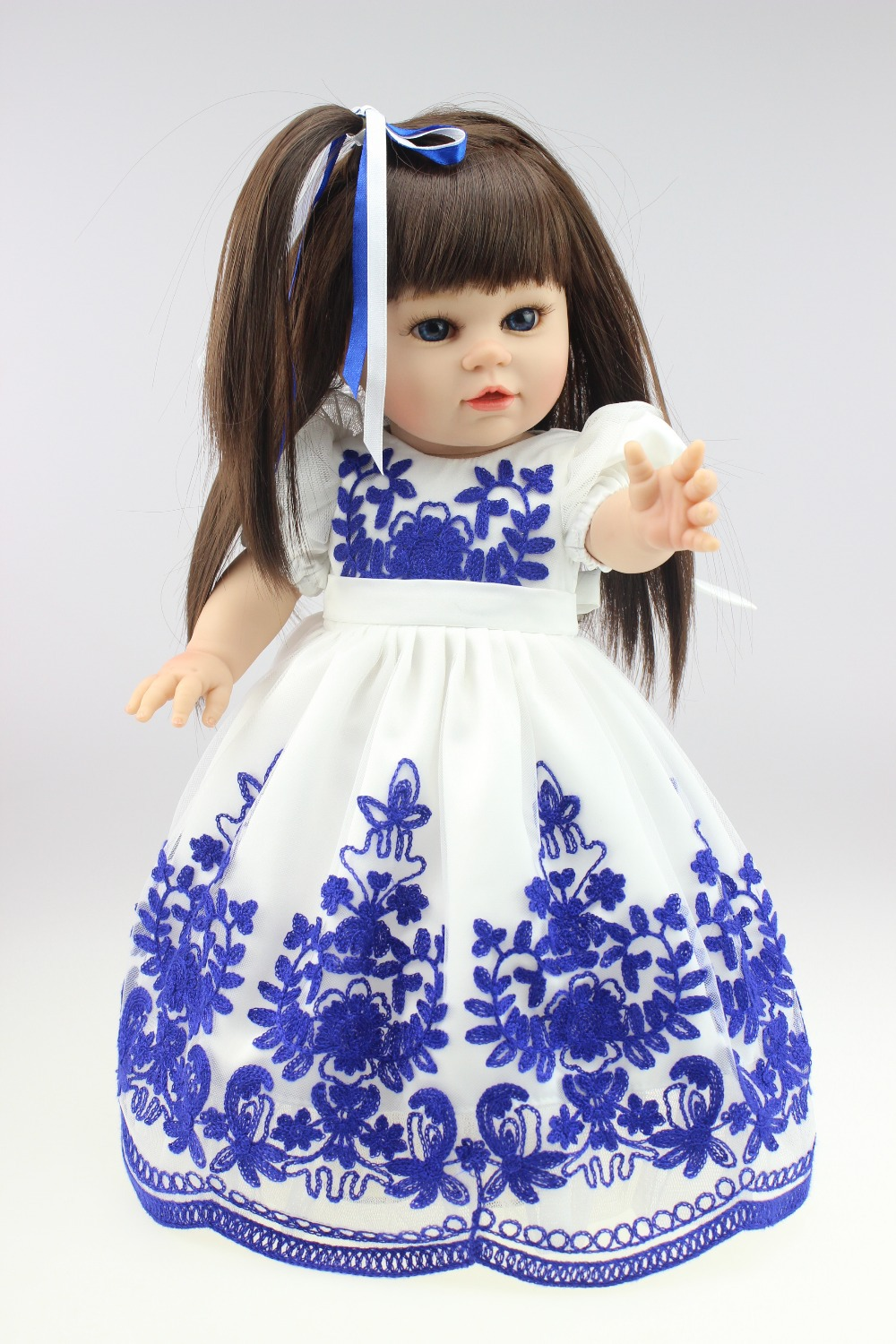 New design full vinyl doll free shipping american doll Dollie& me fashion doll Our generation(China (Mainland))