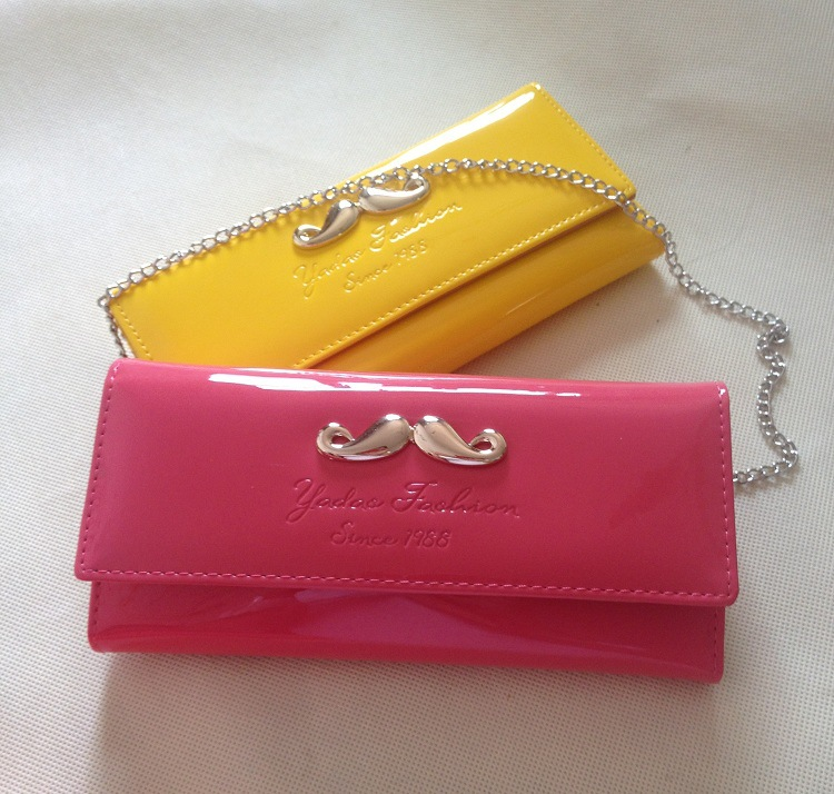 The Explosion Paint Long Wallet Belt Chain Korean Style Lady Wallet Wholesale Handbag(China (Mainland))